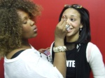 Tia Walker with make-up artist Spicee Cajun, New York, NY.